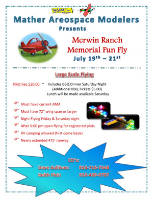 Merwin Ranch Memorial Fun Fly July 19-21 2013