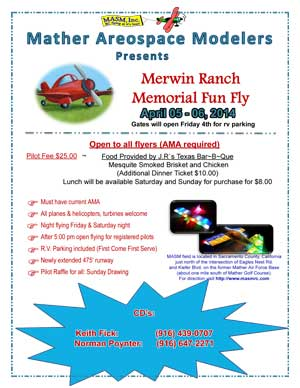 Merwin Ranch Memorial Fun Fly April 05-06 2014